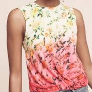 Anthropologie Deletta Adaenia Floral Twist Top S